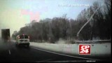 18-Wheeler Crashes Through Barrier Into Oncoming Traffic