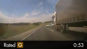 Overtaking Vehicle Hits Police Car