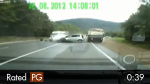 Head-on Russian Highway Crash