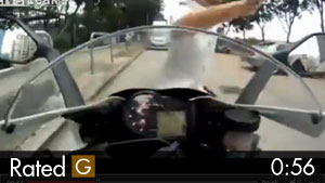 Motorcycle Cam Catches Insurance Scam Attempt