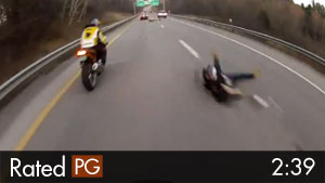 Motorcycle Showoff Crashes Custom Bike