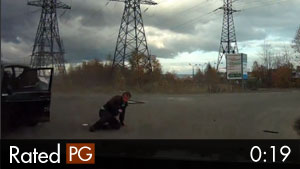 Driver Rolls Out of Car Accident & Walks Away
