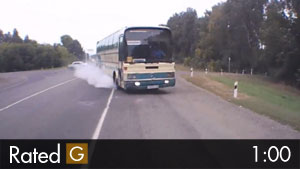 Bus Nearly Involved in Head-on Collision