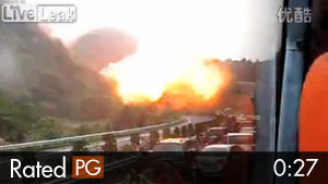 Gas Tanker Truck Explodes in China