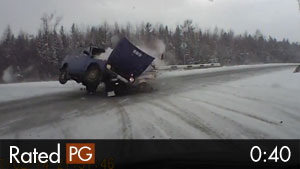 T-Bone Accident on Snowy Highway