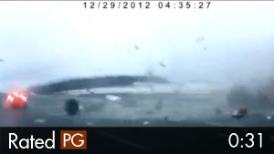 Commercial Plane Crash in Moscow Caught on Dash Cam