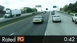 Bouncing Tire on Highway Causes Accident