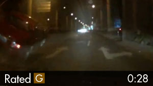 Chinese Driver Hits Concrete Road Divider & Almost Flips