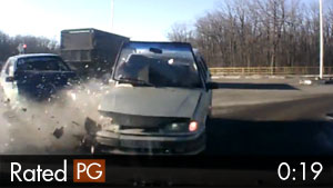 Woman Thrown Through Windshield in Car Crash