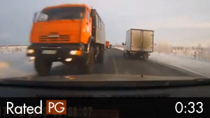 Dash Cam Driver Dozes Off & Drives Head-on Into Truck