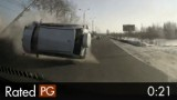 SUV Rolls Over Into Oncoming Traffic