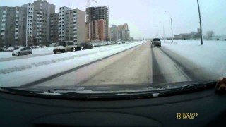 Instant Karma to Driver Who Tries to Scare Pedestrian