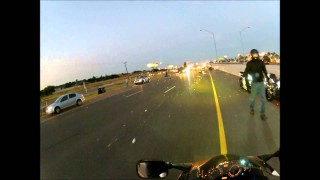 Motorcycles Vs. Styrofoam on Highway