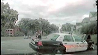 Police Car Causes Another Cruiser to Crash