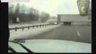 Tractor-Trailer Crosses Highway Divider