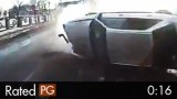 Rollover Accident Almost Hits Dashcam Car