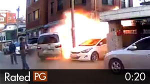 Building Explosion Caught on Dash Camera