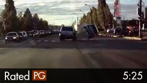 Drunk Driver's U-Turn Causes Rollover Accident