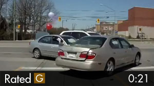 Surprise Car Accident With BALLOONS!