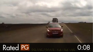 Scary Video of Fatal Head-On Collision