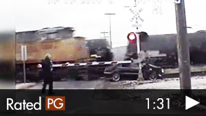 Woman Hits Train, Then Gets Hit By 2nd Train