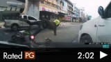 Road Rage Causes Bad Accident in Bangkok