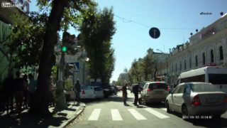 Man Lies Down in Crosswalk, Gets Run Over